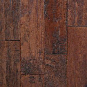 Handscraped hickory chestnut 3 4 solid prefinished for Prefinished solid hardwood flooring