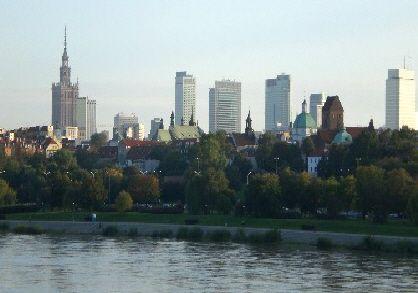 Warschau Panorama Weichsel