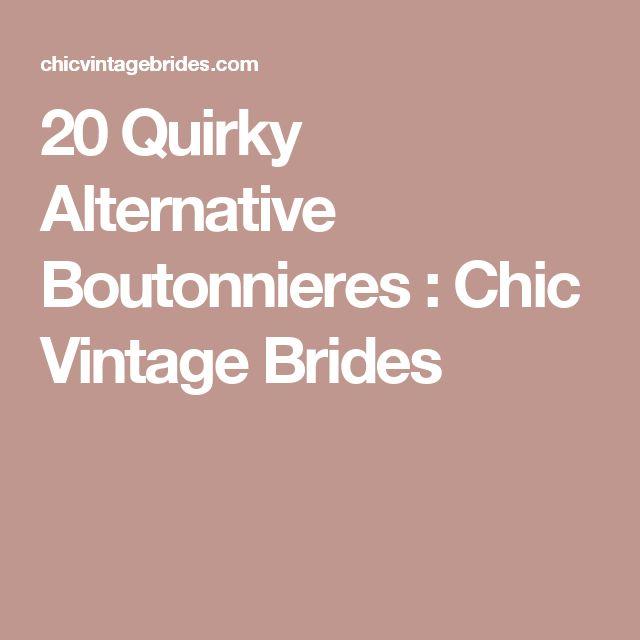 20 Quirky Alternative Boutonnieres : Chic Vintage Brides
