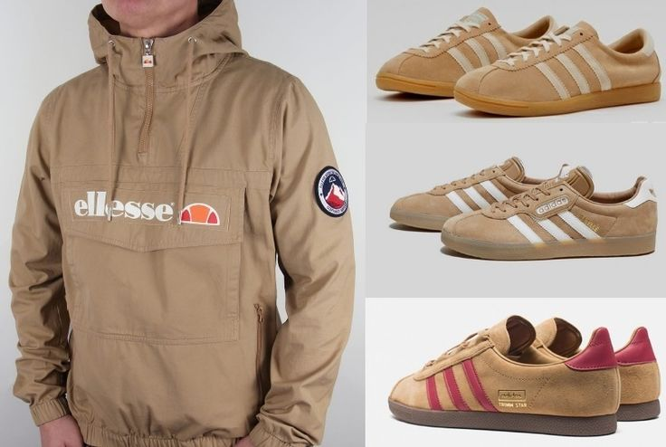 Gorgeous Ellesse Mont 1/4 zip jacket in 'Tannin' looks the dogs teamed up with adidas Rivea, Gazelle Supers or add a splash of colour with original Trimm Stars - Trimmies for me with Edwin jeans!! :-)