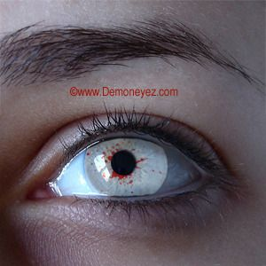 White Zombie Halloween Contact Lenses - Undead Eye Lens Store