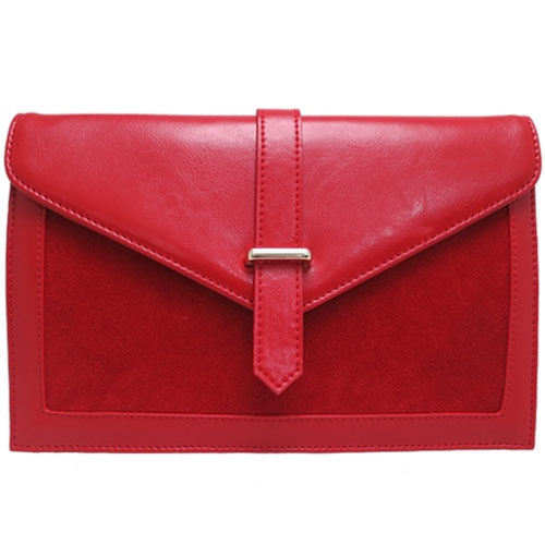 Brooklyn Leather Clutch in Red - $89.00  Check it out at: http://www.bagaholics.com.au/leather-bags-c6/-brooklyn-leather-clutch-in-red-p588/