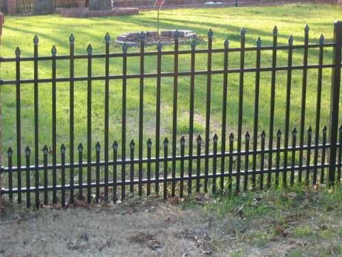45 best wrought iron fencing images on pinterest fence gates thinking of putting wrought iron fence in front yard for dog this may be too workwithnaturefo