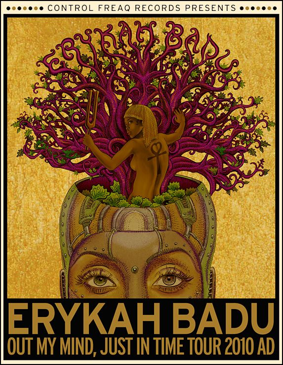 """Erica Abi Wright, better known by her stage name Erykah Badu, is a Grammy Award-winning American singer-songwriter, record producer, activist and actress. She is known as the """"First Lady of Neo-Soul"""" or the """"Queen of Neo-Soul"""". 'Baduizm', Badu's highly acclaimed debut album (1997), eventually went triple platinum and won Grammy Awards at the 1998 ceremonies."""