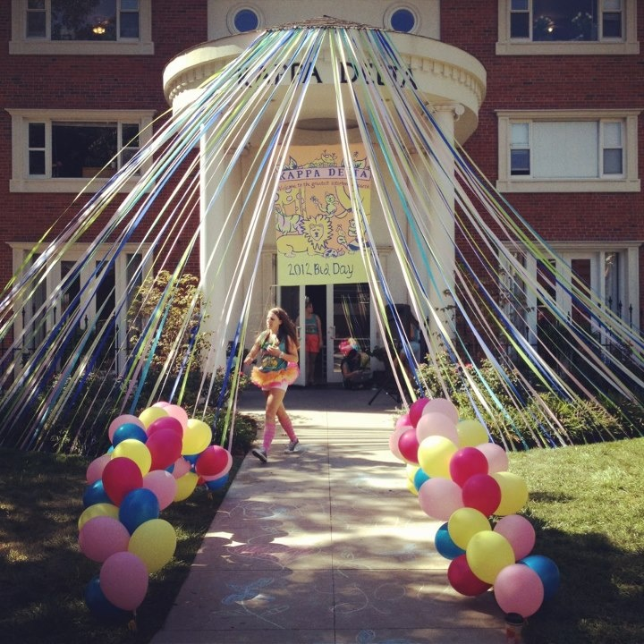Kappa Delta bid day! Greatest sisterhood on earth!!! CIRCUS THEME  (please note - those balloons may be non-helium  look good)