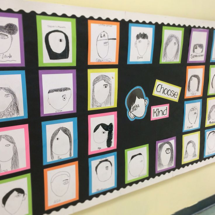 Wonder Wall self portraits after reading Wonder by RJ Palacio. Choose Kind!