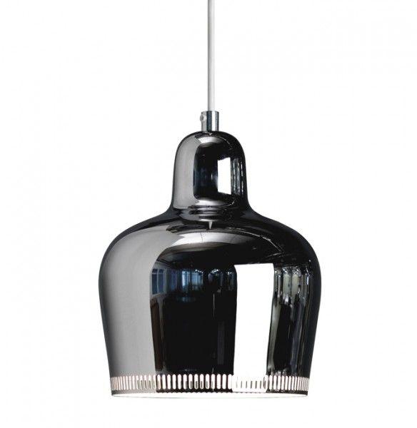 artek chrome plated steel pendant