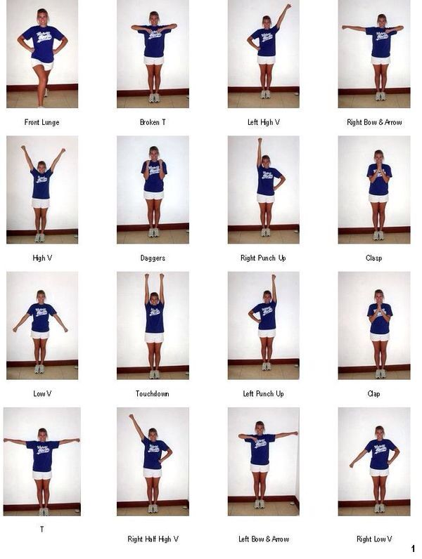 Some cheer positions