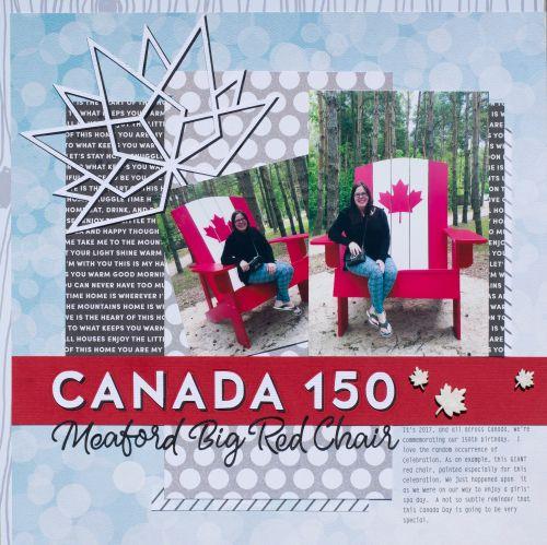 Canada 150 layout by Rona Yardley