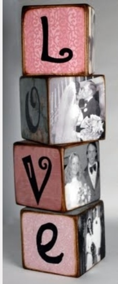 photo blocks...some kind of variation could be cute for centerpieces