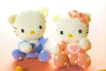 tuto bb hello kitty à réliser au crochet, en pdf