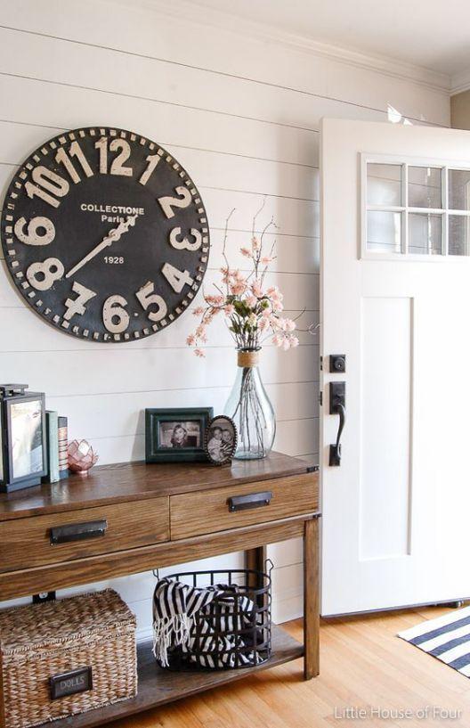 Best 25 oversized clocks ideas on pinterest big clocks for Large foyer wall decorating ideas