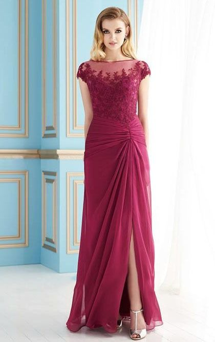 Chiffon Short Sleeve A-line Natural Floor-length Evening Dresses-#SpecialOccasionDreses