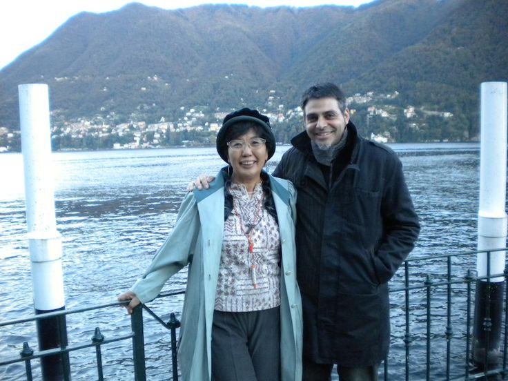 With my friend Nasuko in Italy.