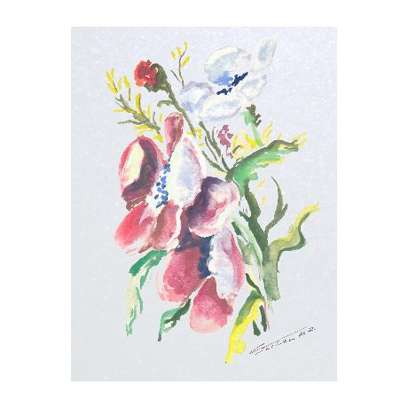 Blacha stalowa z kwiatami polnymi. Kuchnia, ozdoba, ochrona, prezent.