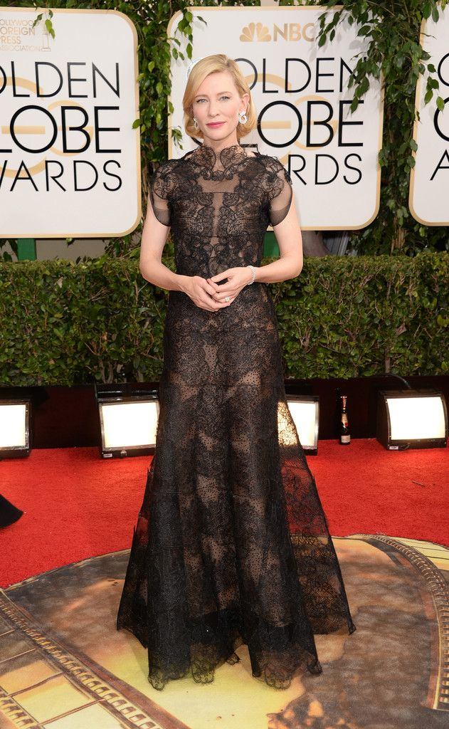 No doubt, the most beautiful dress that evening! Cate Blanchett in Armani Privé Couture at the 2014 Golden Globe Awards