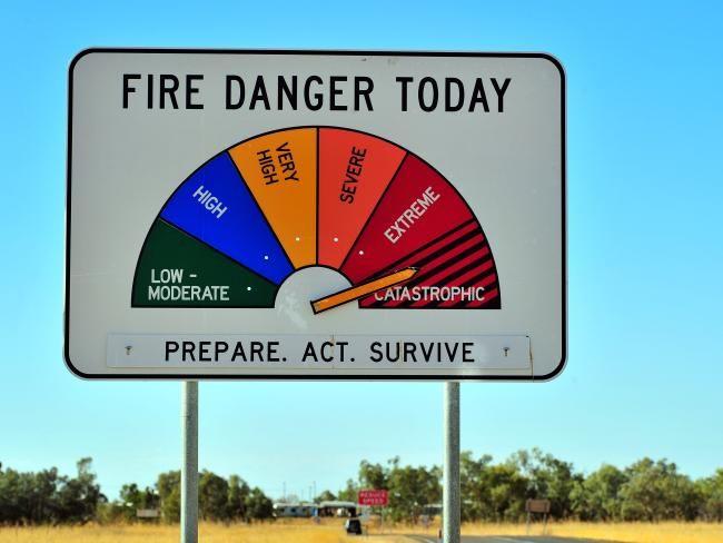High Fire Danger warning signs, Australia.