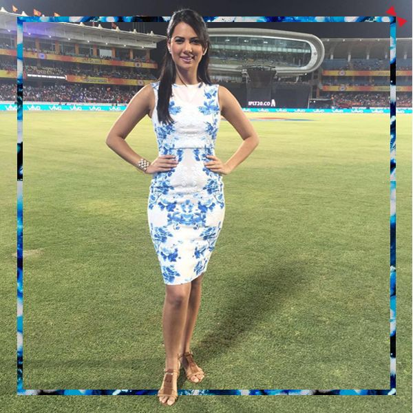 Rochelle Rao dazzling in our Razzle Tassel  #heels at IPL - Indian Premier League and we dig it!   Get your pair here: www.intoto.in/razzle-tassel-65 #INTOTO #CelebStyle #INmyshoes