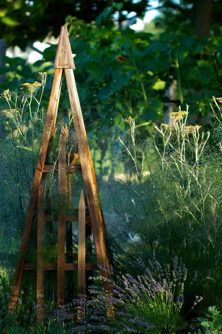 Wooden Obelisk Plant Support Woodworking Projects Amp Plans