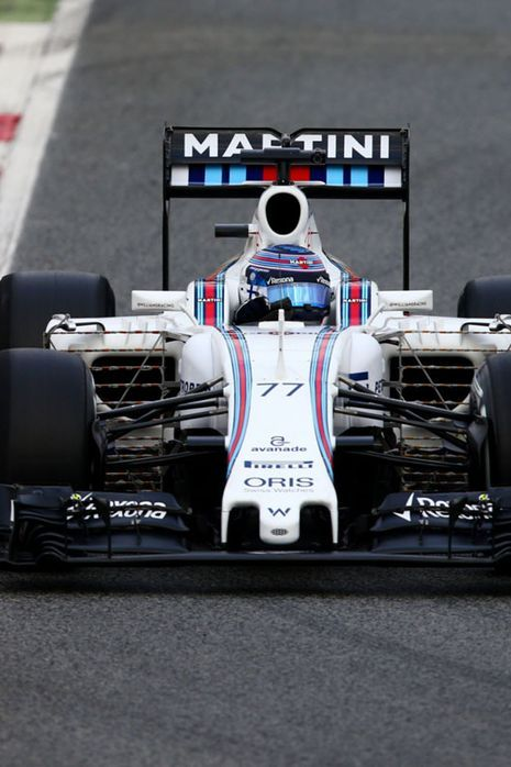Valtteri Bottas of Williams drives during day one of F1 winter testing at Circuit de Catalunya on February 22, 2016 in Montmelo, Spain