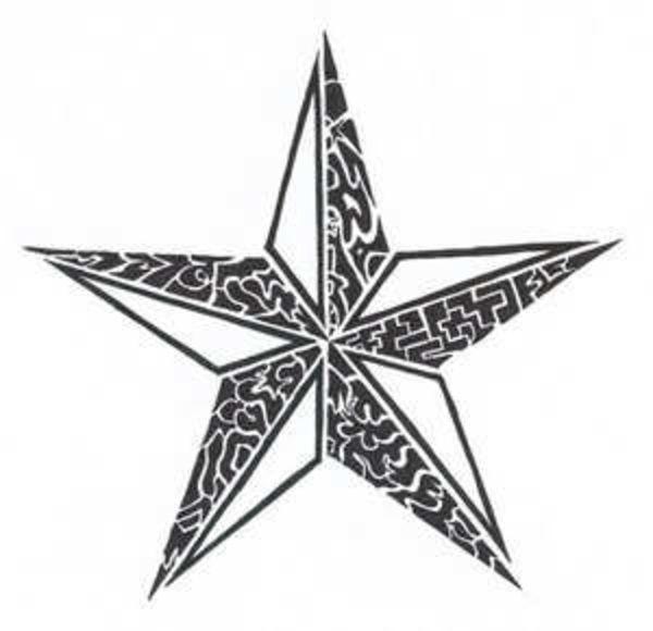 tattoos stars for men | Tribal Star Tattoo image - vector clip art online, royalty free ...
