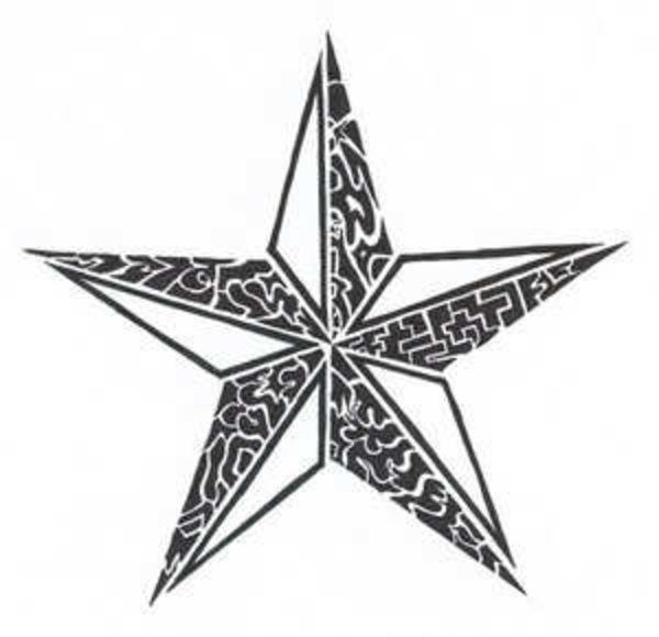 tattoos stars for men | Tribal Star Tattoo image - vector clip art online, royalty free ...