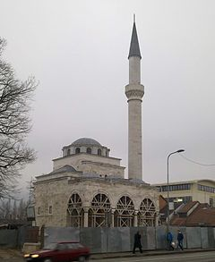 Ferhat Pasha Mosque - The Republika Srpska authorities ordered the demolition of the entire Ferhadija and Arnaudija mosque complexes. The Serb militia blew up the Ferhadija Mosque on the night of 6–7 May 1993. Under construction in 2014 - Bosnia and Herzegovina