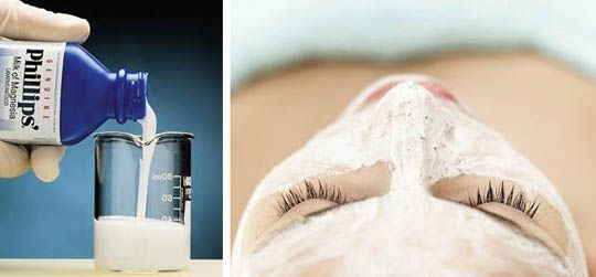 milk of magnesia to absorb oil on skin....via Marcus Design: {beauty tip: the secret to a matte face}
