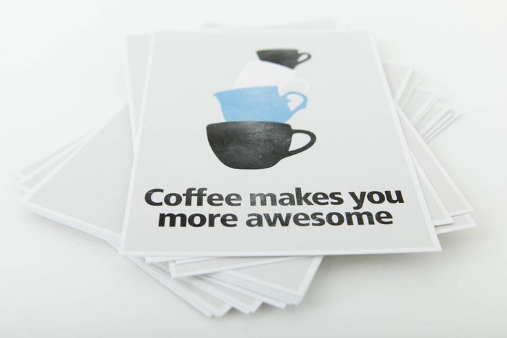 Elsje grafisch ontwerp   Koffie kaarten   www.elsjegrafischontwerp.nl