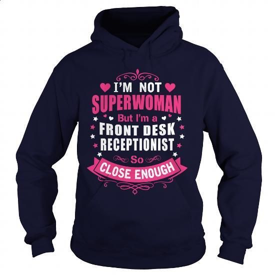 FRONT DESK RECEPTIONIST - SUPER WM #fashion #clothing. GET YOURS => https://www.sunfrog.com/LifeStyle/FRONT-DESK-RECEPTIONIST--SUPER-WM-Navy-Blue-Hoodie.html?60505