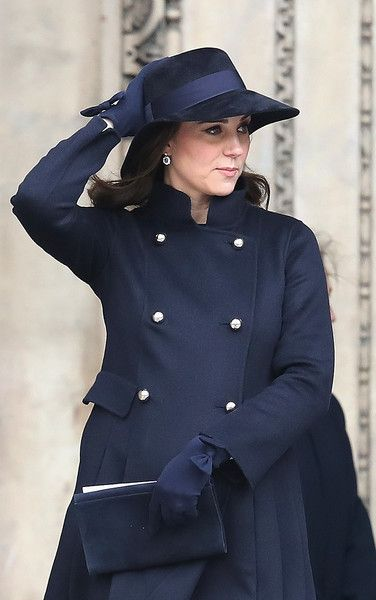 Kate Middleton Photos - Catherine, Duchess of Cambridge leaves the Grenfell Tower National Memorial Service held at St Paul's Cathedral on December 14, 2017 in London, England. The Royal Family and Prime Minister will join survivors of the Grenfell Tower at the memorial at St Paul's Cathedral for the six-month anniversary which killed 71 people. Grenfell Tower National Memorial Service