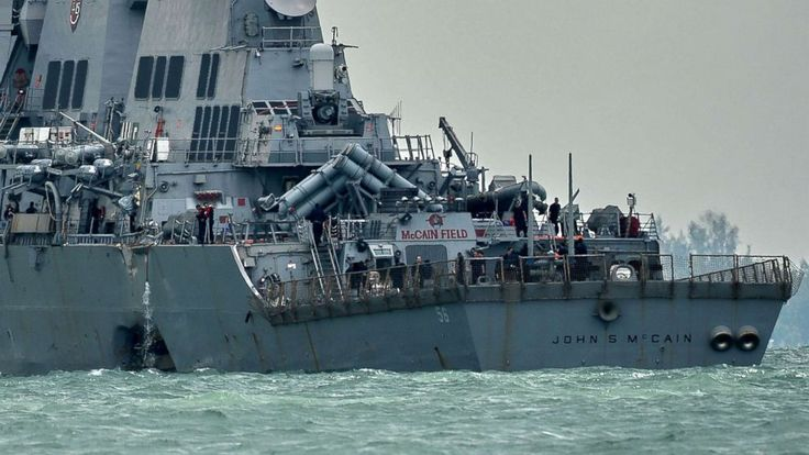 Divers have recovered the remains of all 10 sailors who went missing after the USS John S. McCain and an oil tanker collided near Singapore last week, the U.S. Navy said Monday. Navy and Marine Corps divers had been searching in flooded compartments of the destroyer for days after the...