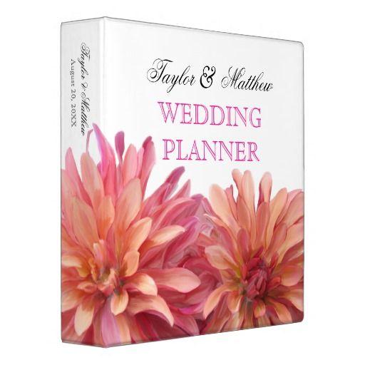 Painted Dahlia Floral Wedding Planner 1.5 Inch Vinyl Binders