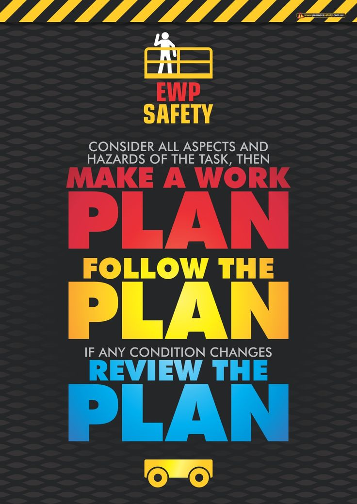 18 best work project images on pinterest health the office and according to our research the most common cause for ewp incidents and injuries involves not having a suitable work plan not following the work plan fandeluxe Images