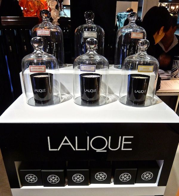 New Candles from Lalique @ David Jones Market Street Sydney