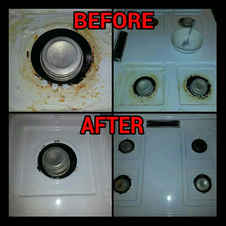 how to clean electric stove top with baking soda