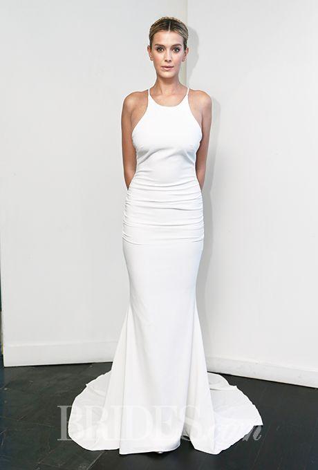 This @nicolemillernyc #weddingdress has a great, sporty vibe | Brides.com