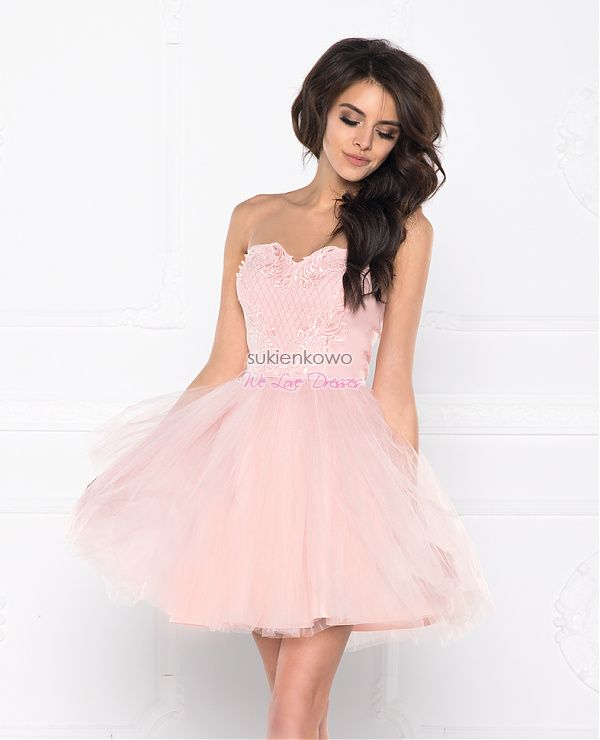 Sukienkowo Com Jennifer Rozkloszowana Tiulowa Sukienka Rozowa Dresses Fashion Spring Dresses