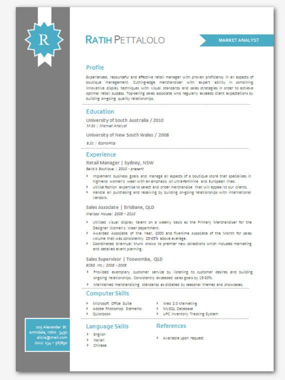 modern microsoft word resume template ratih pettalolo by
