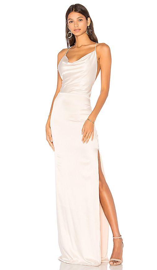 Gemeli Power Silk D Dupey Gown in Creme Silk  830ce5176