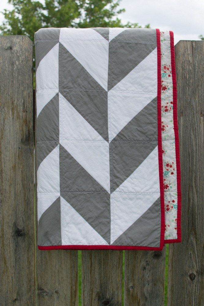 Herringbone Quilt // lemon squeezy home