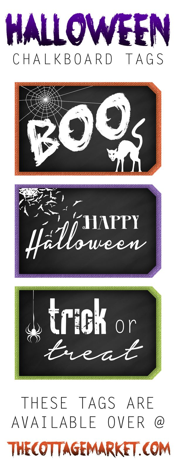 Are you looking to add to something spooky to your tag collection? Then check out these Halloween Chalkboard Tags to it right now! They are spooktacular!!!!