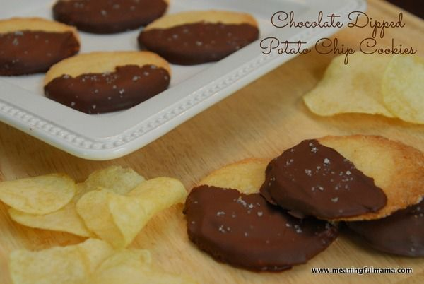Chocolate Dipped Potato Chip Cookies | !!BEST DESSERTS!! | Pinterest