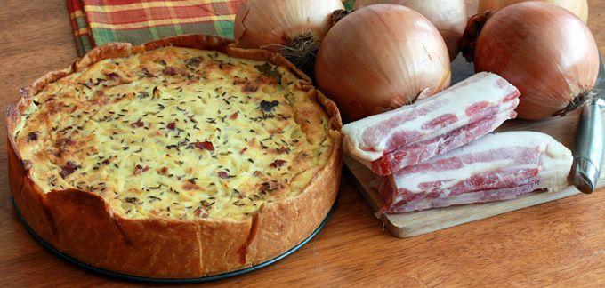 German Onion and Bacon Pie (Zwiebelkuchen)