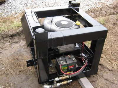 The Power Cube - a still-in-development fuel agnostic power source for an array of open source hardware, from tractors to cars.