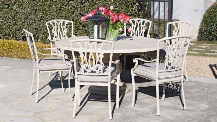 Beaumont 7 piece round dining setting outdoor dining for Outdoor furniture harvey norman