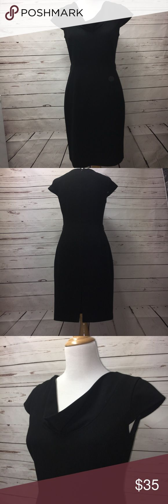 Calvin Klein Black Business Dress This dress could be paired with your favorite thin belt and Blazer for a business look or dressed up with an iridescent belt and shawl for an evening look. GUC! Drycleaned and lined, this dress is ready to be worn by you! Has string belt loops that could be removed if you chose not to wear it with a belt. Calvin Klein Dresses Midi