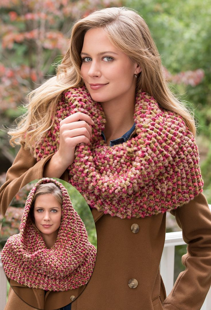 Free Knitting Pattern for Gigi's Garter Stitch Cowl - Cathy Payson's design is easy enough for beginners and a quick knit in bulky yarn