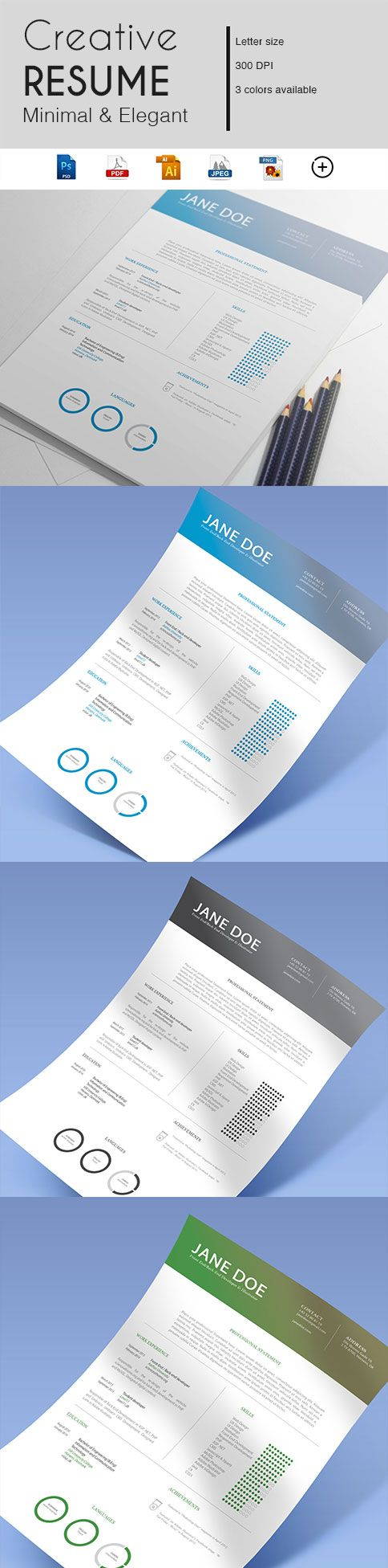 Gabellare | Get into action and make a great first impression with our resume template.  During a job search, your resume plays a major role. If you just started searching for a job or simply looking to present yourself with the professional look your employers are hoping for, make sure you give a great impression with an eye catching resume design.