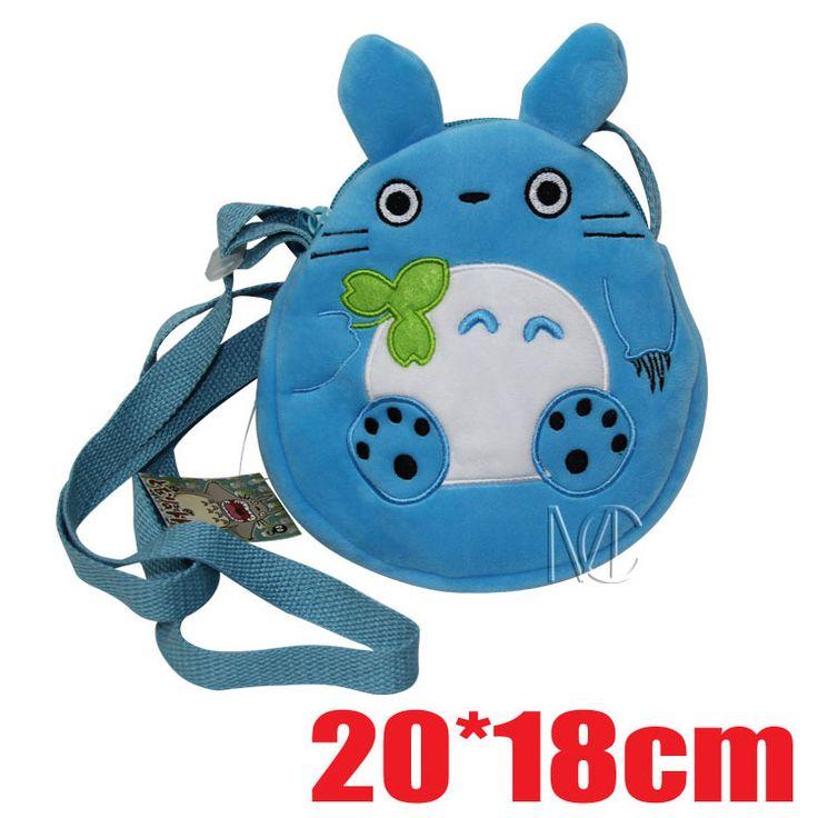 20CM My Neighbor Totoro Plush Cotton Lady Girl's Satchel Children School Messenger Bag Kindergarten Shoulder  Bags